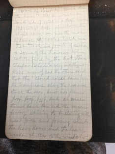 Statement of Taylor in one of Edmund's field notebooks (AMNH: Box 3, Item 31)